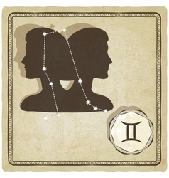 Astrological sign - gemini vector