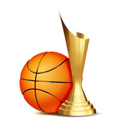 basketball game award basketball ball vector image