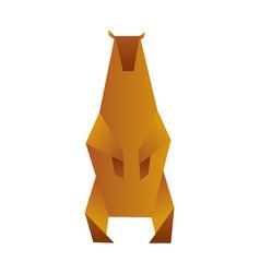 bear origami low polygon polar or brown vector image