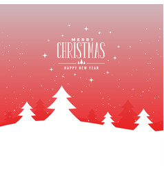 beautiful merry christmas festival landscape with vector image