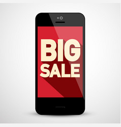 big sale business app on mobile phone vector image