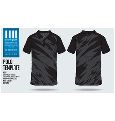 black polo t shirt sport template design vector image