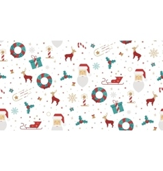 Bright Christmas chuck for fabric vector image