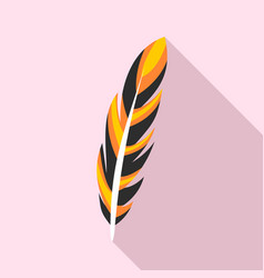 bright feather icon flat style vector image