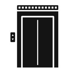 Broken elevator icon simple style vector