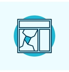 Broken window glass icon vector