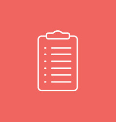 Clipboard icon with form vector