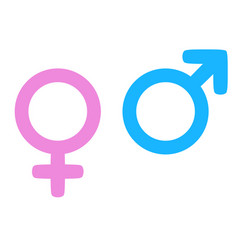 color gender icon man and woman symbols vector image