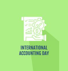 Congratulating accountant greeting card vector