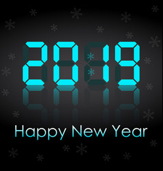congratulations on the new year 2019 on the vector image