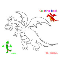 contour of the dragon sketch vector image