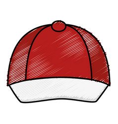 Courier cap uniform icon vector