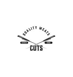 cut meat butcher logo designs inspiration vector image