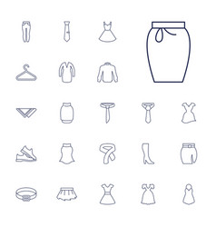 Dress icons vector