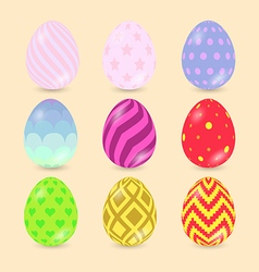 Easter Eggs icons isolated on background vector
