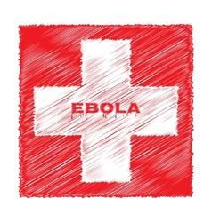 Ebola virus red cross medicine vector