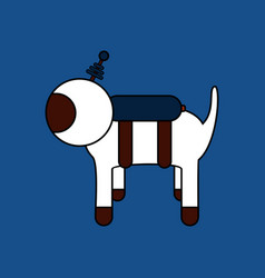 Flat icon design collection space dog vector