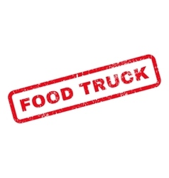 Food truck text rubber stamp vector