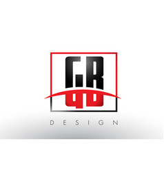 Gb g b logo letters with red and black colors and vector