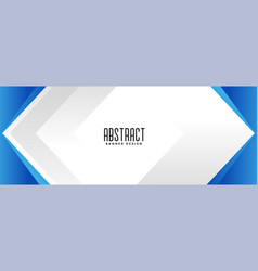 geometric blue business style presentation banner vector image