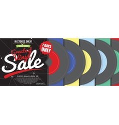 Greatest Vinyl Sale 500x600 Pixel Banner vector image
