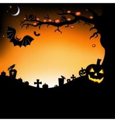 Halloween scene vector