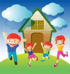 happy family2 vector image
