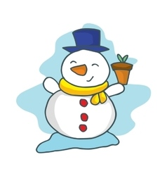 Happy snowman cartoon collection stock vector