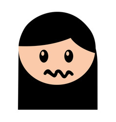 head girl angry expression vector image