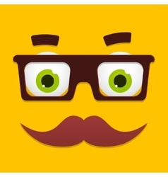 Hipster Avatar with Geek Glasses And vector