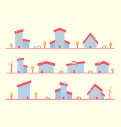house set small town vector image