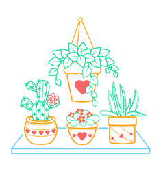 houseplant of a room icon vector image