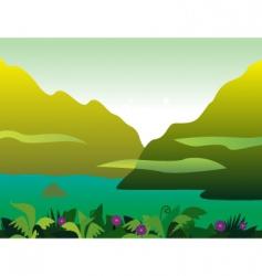 jungle landscape vector image vector image