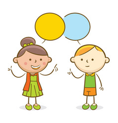 Kids conversation vector