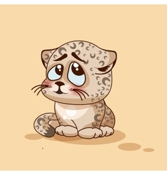 Leopard cub confused vector