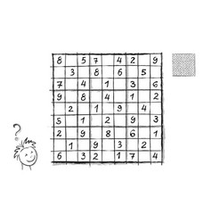 Logic sudoku puzzle game for children and adults vector