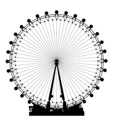london wheel silhouette vector image