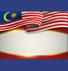 Malaysia insignia with decorative golden frame vector