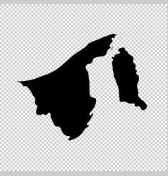 Map brunei isolated black on vector