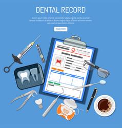 Medical dental record concept vector