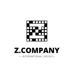 minimal style geometric Z letter logo vector image