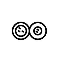 Mitosis line icon vector