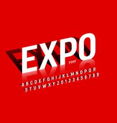Modern exhibition style font desugn alphabet vector