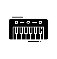 Musical keyboard black icon concept vector