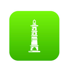 Navigate tower icon green vector