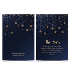 Night sky with stars vector