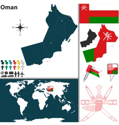 Oman map world vector image