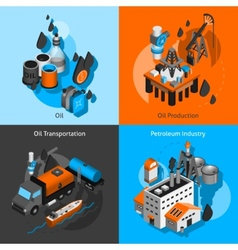 Petroleum isometric set vector