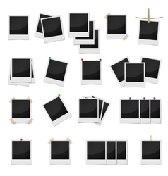 Photo frames set realistic style vector image