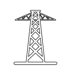 pictogram electrical tower transmission energy vector image